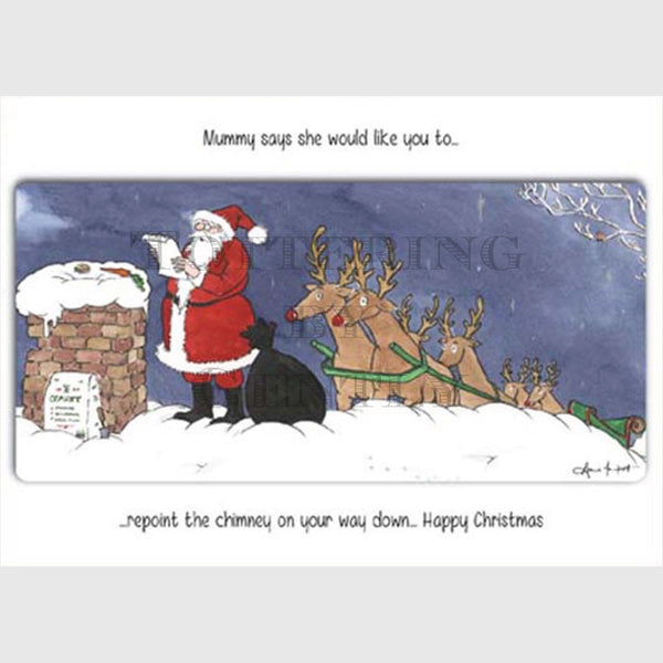 Repoint the chimney - Christmas card pack of 5