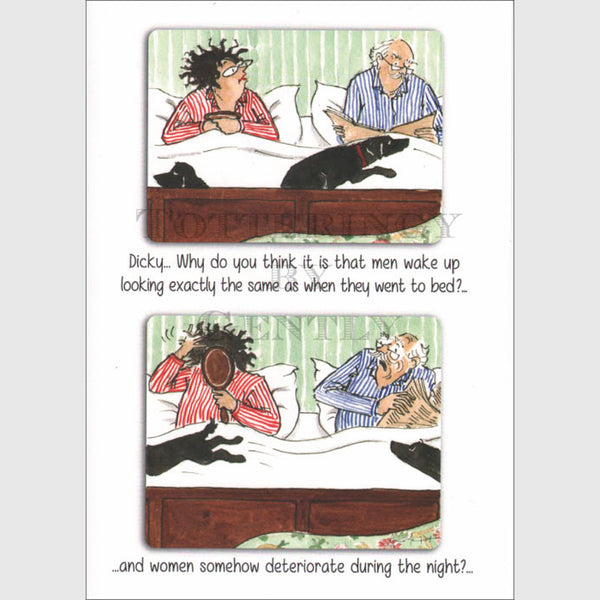 Women deteriorate during the night - Greeting card