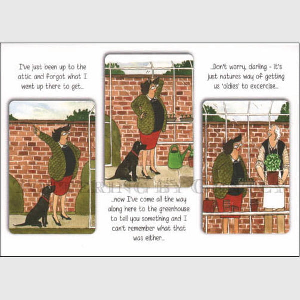 Oldies to exercise - Greeting card
