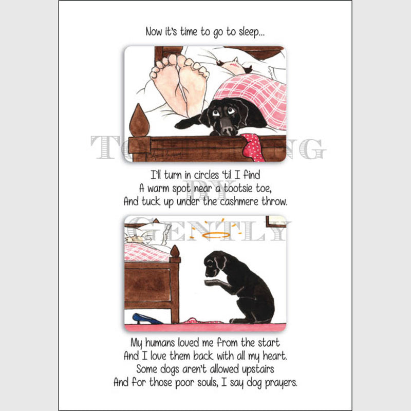 Dogs Prayer Greeting Card | Tottering by Gently