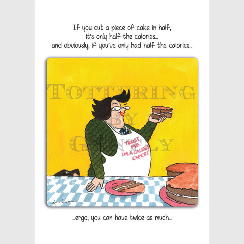 Cake calories - Greeting card
