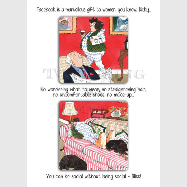 Facebook  - Greeting card