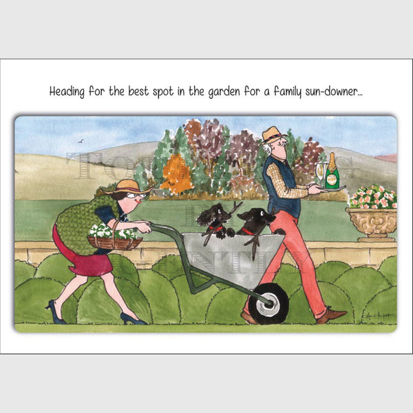 Best spot in the garden - Greeting card