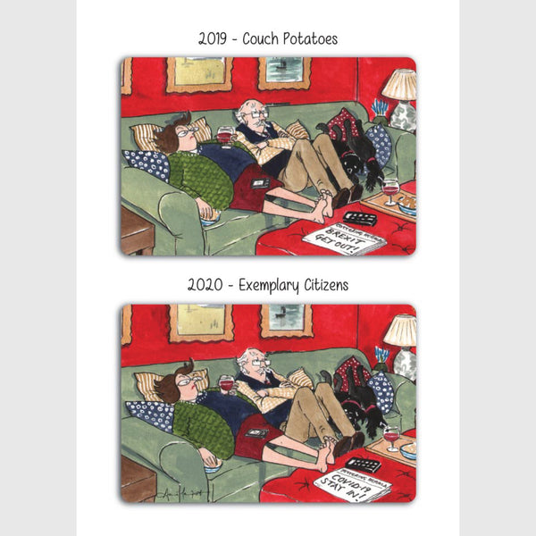 Couch Potatoes - Greeting card