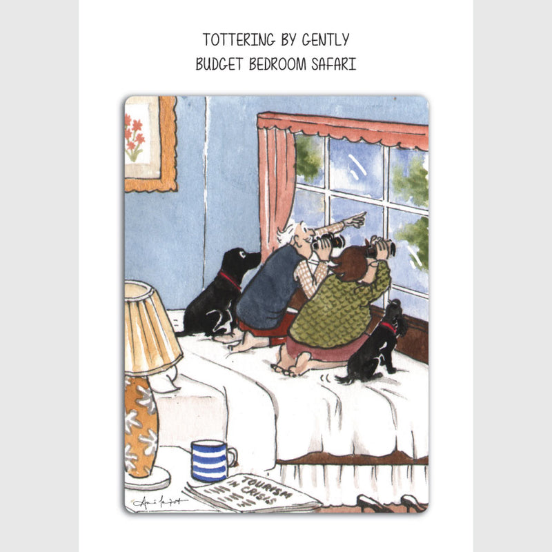 Budget bedroom safari greeting card | Tottering by Gently
