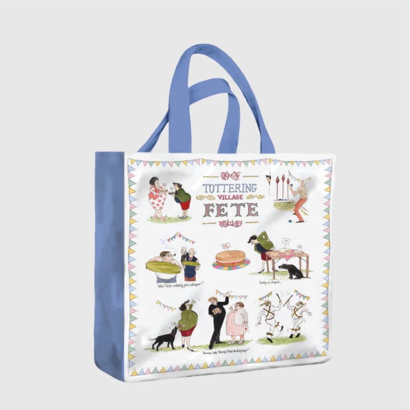 Tottering by Gently Village Fete PVC medium shopper bag