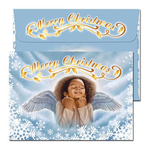Merry Angel Christmas Card