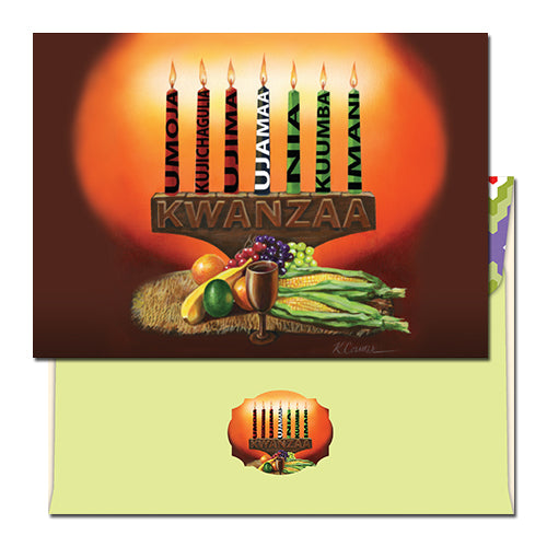 Kwanzaa Candles Card
