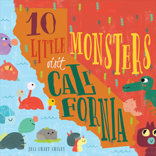10 Little Monster Visit California- Children's Book