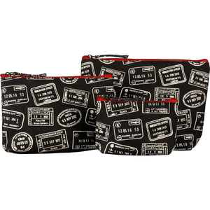 Wunderlust Black Cosmetic Bag