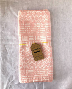 Pink Mudcloth Runner