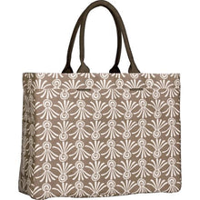 Delos Grey Canvas Carryall Tote