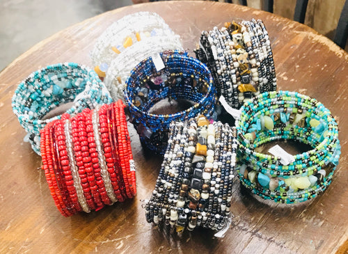 HAND BEADED INDONESIAN BRACELETS