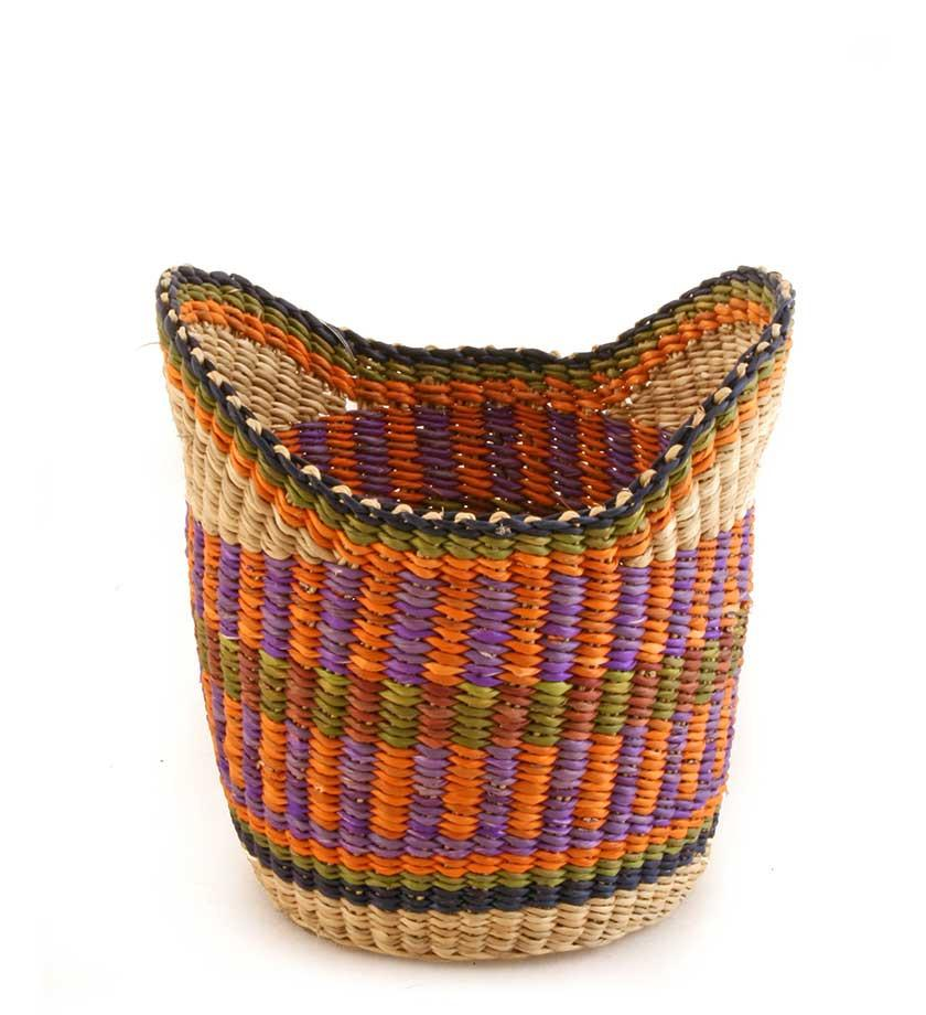 Winged Bolga Blessing Basket in Assorted Colors