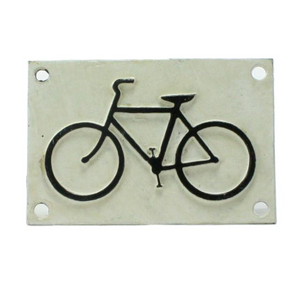Cast Iron Sign - Bicycle Logo