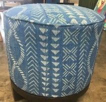 Round Mud Cloth Stool