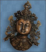 Brass Buddha Metal Mask