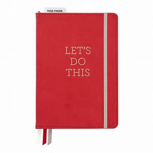 Bulleting Log Journal, 6 x 8 - Red Let's Do This