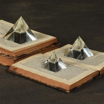 Pyramid Crystal Paper Weight