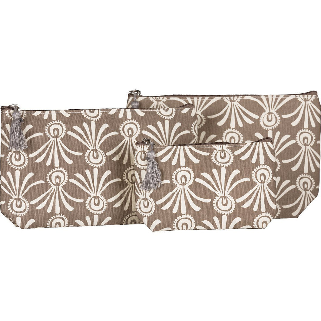 Delos Grey Cosmetic Bags