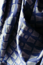 Bari Navy Silk Cotton Scarf