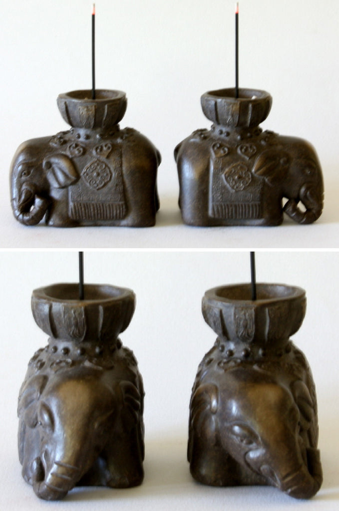 A Pair of Elephant Incense Stand