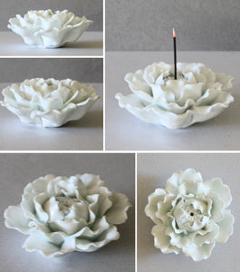 Celadon Peony Incense Stand
