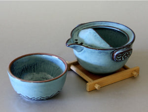 Blue Ceramic Tea Cup