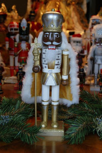 African American Nutcracker -Gold King