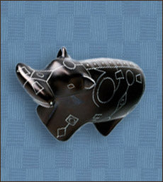Black Line Art Soapstone Animals