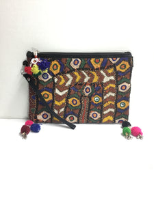 Mixed Media Clutch-Fredd and Basha