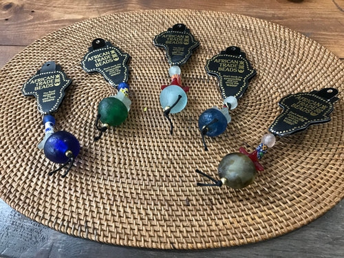 African Trade Beads Key Chains