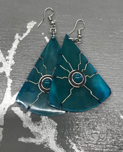 Horn Earrings by Peruvian Art