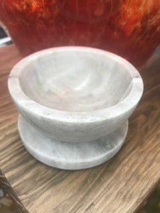Marble Bowl or Smudge Pot and Coaster Set