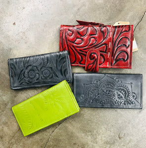 Tooled Checkbook Wallet