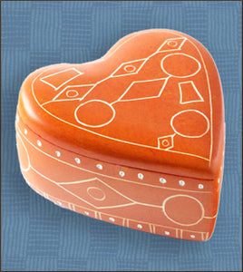 Line Art Soapstone Heart Box