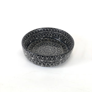 Mud Cloth Black Bowl
