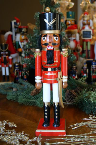 African American Nutcracker -Red Soldier 14