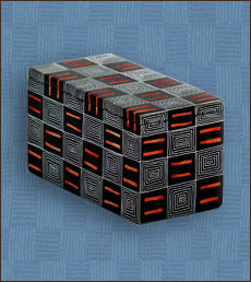 Soapstone Kente Cloth Pattern Box