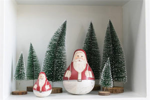 Wooden Roly Poly Santa Claus