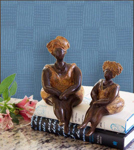 Sweet as Honey Bronze Lady Sculptures