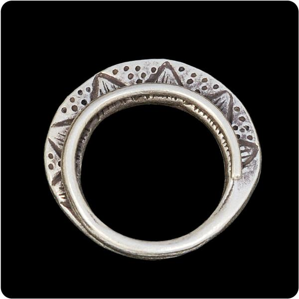 Tribal Ring with Dot Design