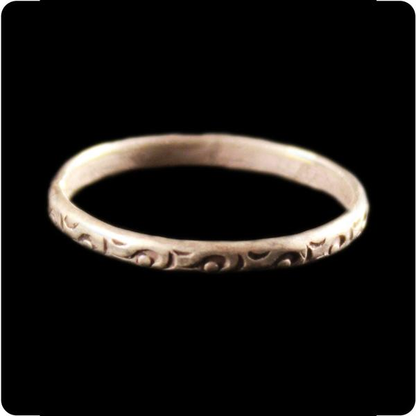 Stamped Tribal Band Ring