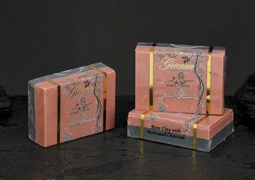 Grecia Rose Clay and Activated Charcoal Soap