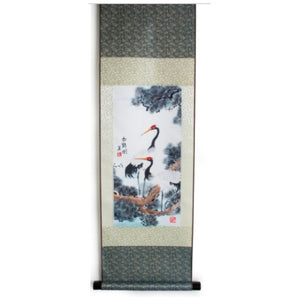 Silk Scroll- Dragon or Cranes