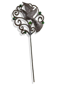 Winged Garden Stake with Marbles