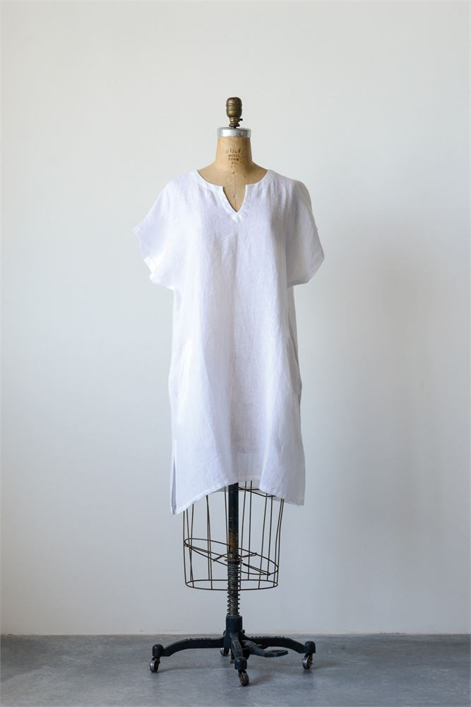 Linen Sophia Shift Dress