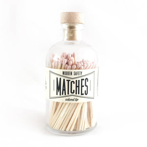 MATCHES- Light Pink Vintage Apothecary Matches