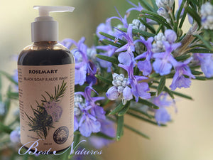 Organic Black Soap Aloe Face and Body Wash with
