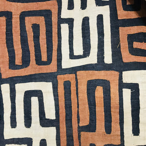 Kuba Cloth Black Ground with Multi Accents